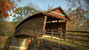 Humpback Posters - Humpback Covered Bridge Poster by Jaki Miller