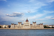 Travel Sightseeing Prints - Hungarian Parliament Building in Budapest Print by Artur Bogacki