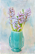 Textured Vase Framed Prints - Hyacinth Framed Print by June Marie Sobrito