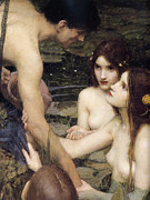Hylas Framed Prints - Hylas and the Nymphs  Framed Print by John William Waterhouse
