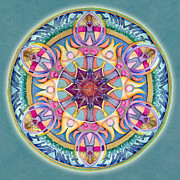 Affirmation Painting Prints - I Am Enough Mandala Print by Jo Thomas Blaine