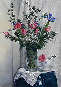 Interior Still Life Paintings - I fiori di laura by Danka Weitzen