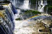 Throat Prints - Iguazu Falls - South America Print by Jon Berghoff