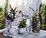 Interior Still Life Paintings - Il Vaso Di Rame by Danka Weitzen