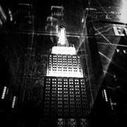 Empire State Building Digital Art Metal Prints - Illuminate Metal Print by Natasha Marco