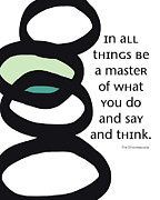 Zen Posters - In All Things Poster by Linda Woods