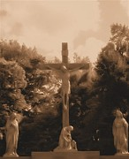 Crucifixtion  Art - In Christ Alone by Marie Sharp