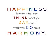 Word Art Digital Art Prints - In Harmony Print by Marianne Beukema