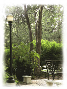 Lamp Posts Prints - In The Garden Print by Ann Powell