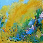 Large Abstract Acrylic Paintings - In the Garden by Jacquie Gouveia