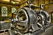 Technical Photo Framed Prints - In The Ship-Lift Engine Room Framed Print by Heiko Koehrer-Wagner