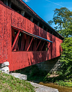 Rural Indiana Posters - INdiana Covered Bridge Poster by Sharon Meyer