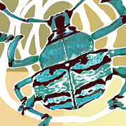 Rainforest Abstract Prints - Insect Stylised Pop Art Drawing Potrait Poser Print by Kim Wang