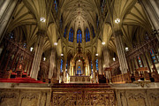 Chandelier Prints - Inside St Patricks Cathedral New York City Print by Amy Cicconi