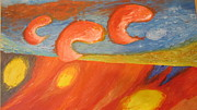 Signed Originals - Interpretation of Golden sunset on the sea Original painting Impressionist style Signed by Eran Lavi