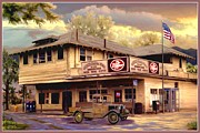 Mail Box Framed Prints - Irvine Country Store Framed Print by Ronald Chambers