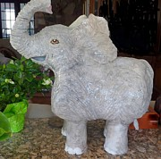 Grey Ceramics Originals - Is there an elephant in the room? by Debbie Limoli