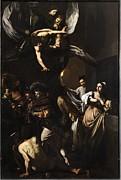 Caravaggio Photo Posters - Italy, Campania, Naples, Pio Monte Poster by Everett