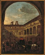 Miel Framed Prints - Italy, Lazio, Rome, Palazzo Koch Framed Print by Everett