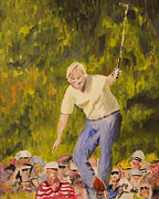 Spectators Paintings - Jack at the Masters by Scott Hoke