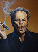 Jack Schmidt Framed Prints - Jack Nicholson Framed Print by Paul Meijering