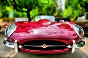 Jaguar E Type Classic Car Paintings - Jaguar E Type 1967 by George Atsametakis