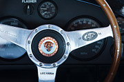 Jaguar Metal Prints - Jaguar Steering Wheel Emblem Metal Print by Jill Reger