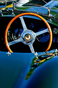 Steering Posters - Jaguar Steering Wheel Poster by Jill Reger