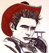 James Dean Painting Originals - James Dean by Lynette  Swart