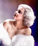Harlow Digital Art Framed Prints - Jean Harlow  Framed Print by Joseph Frank Baraba