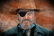 Sf Bay Bombers Prints - Jeff Bridges as U.S. Marshal Rooster Cogburn in True Grit  Print by Jim Fitzpatrick