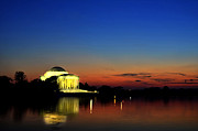 Thomas Jefferson Mixed Media Prints - Jefferson Monument Reflection Print by Lane Erickson
