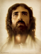 Christ Face Digital Art Prints - Jesus in Glory Print by Ray Downing