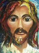 Forgiveness Paintings - Jesus by Suzanne  Marie Leclair