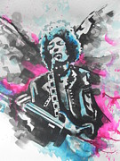 Jimmy Hendrix Paintings - Jimi Hendrix by Chrisann Ellis