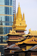 - Occupy Shanghai Prints - Jin An Temple Shanghai Print by Charline Xia