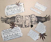 Vocalist Drawings Prints - Joe Walsh Good Life Print by Renee Catherine Wittmann