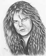 Metal Drawings Framed Prints - Joey Tempest Framed Print by Lena Auxier