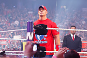Wwe Framed Prints - John Cena Framed Print by Wrestling Photos