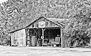 South Arkansas Prints - John Deere Barn Print by Scott Pellegrin