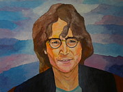 John Lennon Painting Originals - John Lennon by Louisa Bryant