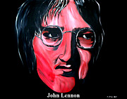 George Harrison Paintings - John Lennon  by Mark Moore