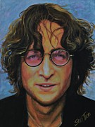 Hippie Painting Originals - John Lennon by Shirl Theis