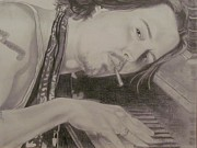 Pencil Drawings Drawings - Johnny Depp by Gloria MacEachern