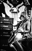 Ramones Photos - Johnny Ramone by Steven Macanka
