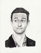 Charcoal Portrait Posters - Joseph Gordon Levitt Poster by Rosalinda Markle