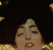 Close Up Painting Posters - Judith Poster by Gustav Klimt