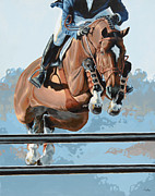 Horse Jumping Paintings - Jumper by Lesley Alexander