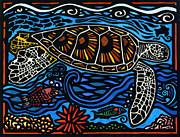 Kahaluu Honu Print by Lisa Greig