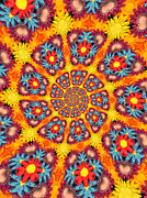 Swirl Digital Art - Kaleidoscope Daisies by Amy Cicconi